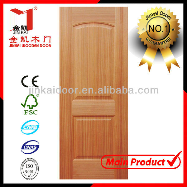 Moulded door panel for natural wood door