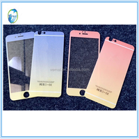 Colorful Mirror/Silk Tempered Glass Screen Protector for iphone 5S