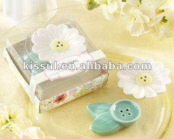 Wedding Keepsake of Blossom Ceramic Salt & Pepper Shakers Party Gifts