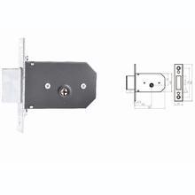 Russian Market 85mm Armored Security Door Lock Mechanism With Crossing Keys 536K