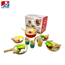 Hot new products happy kid pretend play set wooden kitchen toy HC391957