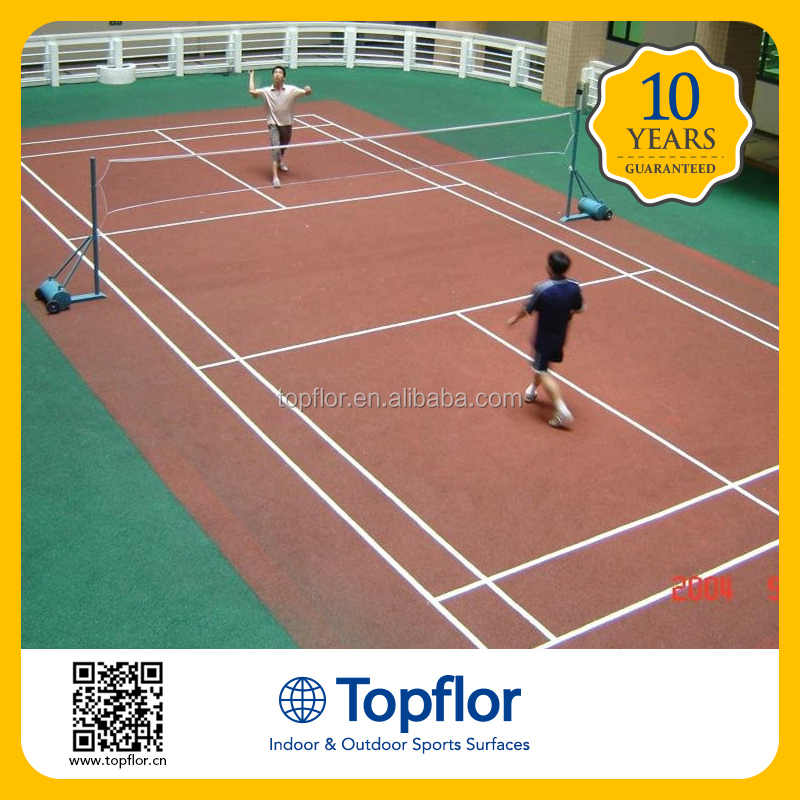 Topflor High quality high school badminton court mats bule pvc fooring sports flooring