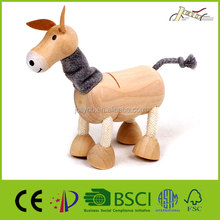 Donkey Animal Wooden Figurines Toy for Teen Education Training
