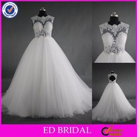 LN03 2016 Hot Sale Sexy See Through Corset Lace Bodice Real Sample Alibaba Wedding Dress