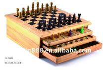10 in 1 Wooden Game Set,Chess Game Set