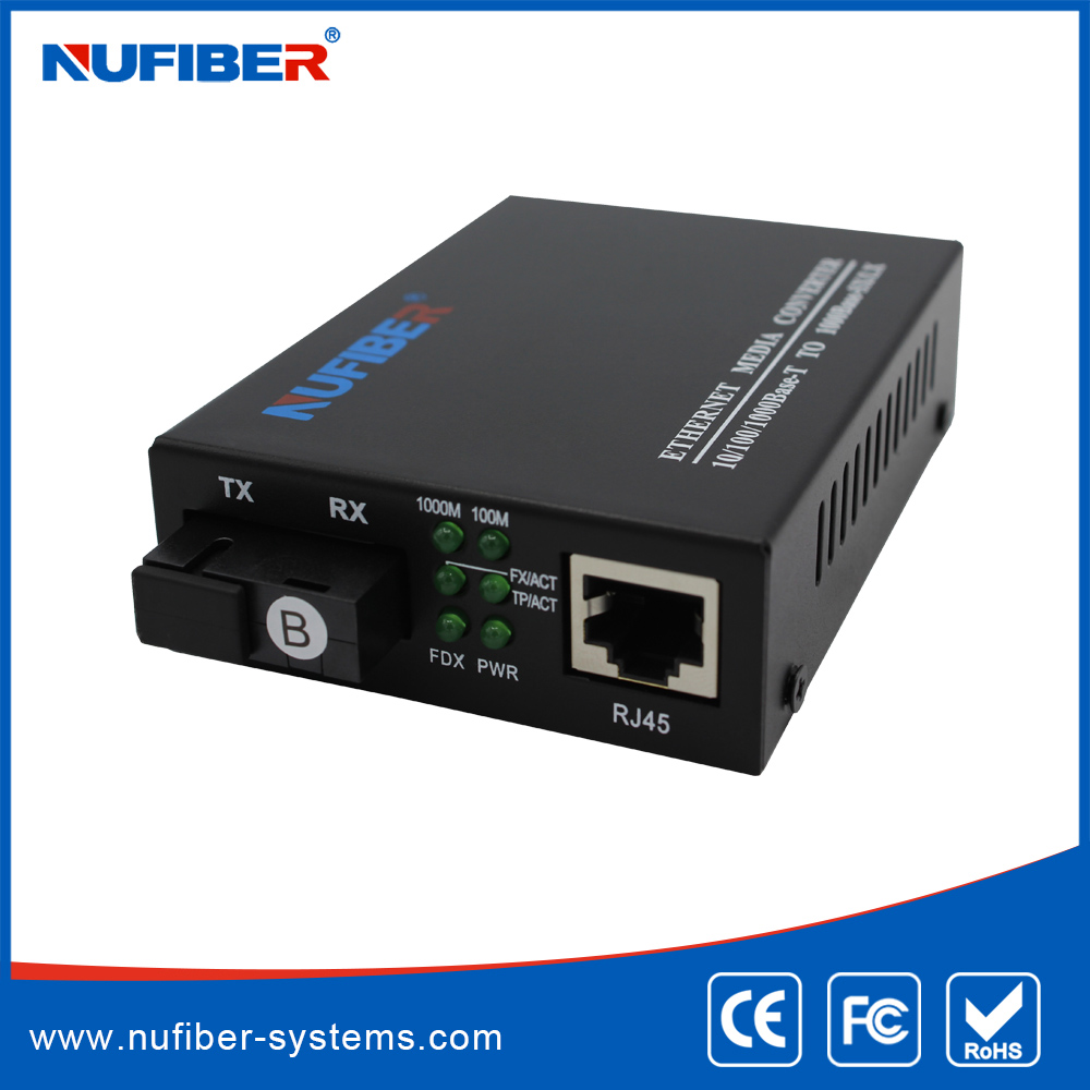 10/100/1000M Multimode media converter 550m SC/ST/FC gigabit ethernet media converter