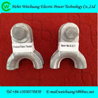 cast aluminium alloy/ hot dip galvanized clevis thimble for ADSS