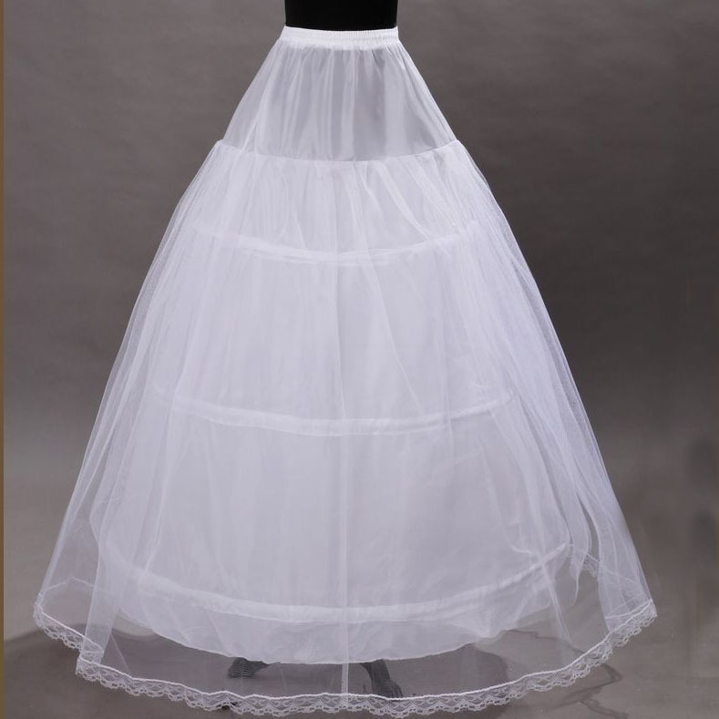 BV11 Ball Gown Style No Hoop Tulle White Petticoat Adult Wedding Dress Crinoline Petticoat