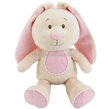Lovely baby toys 9inch pink girl rabbit custom plush toys/ baby toy plush pink rabbit