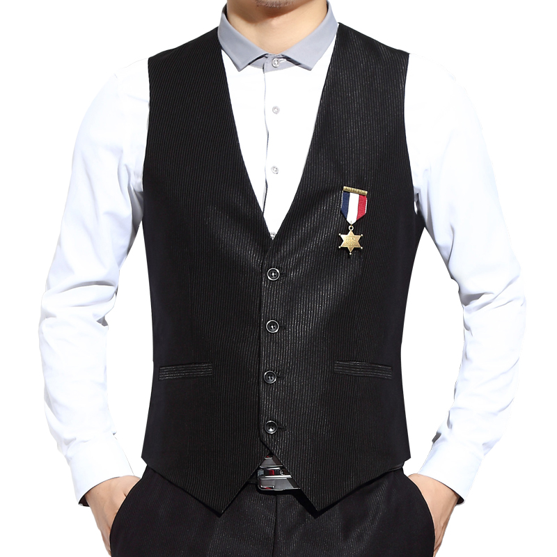 2015 slim suit vest male fashion suit vest formal dress vest for men chaleco de vestir hombre