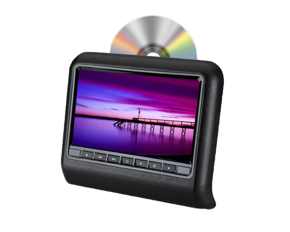 Multi-functional 9/10.1 Inch Slot-in Headrest DVD player, headrest moinitor