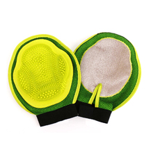 Dog Bath Massage Cleaning Brush Rubber Pet Grooming Glove