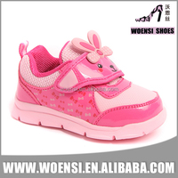 hot sale special nice pink color animal ornaments kids sport shoes for girl