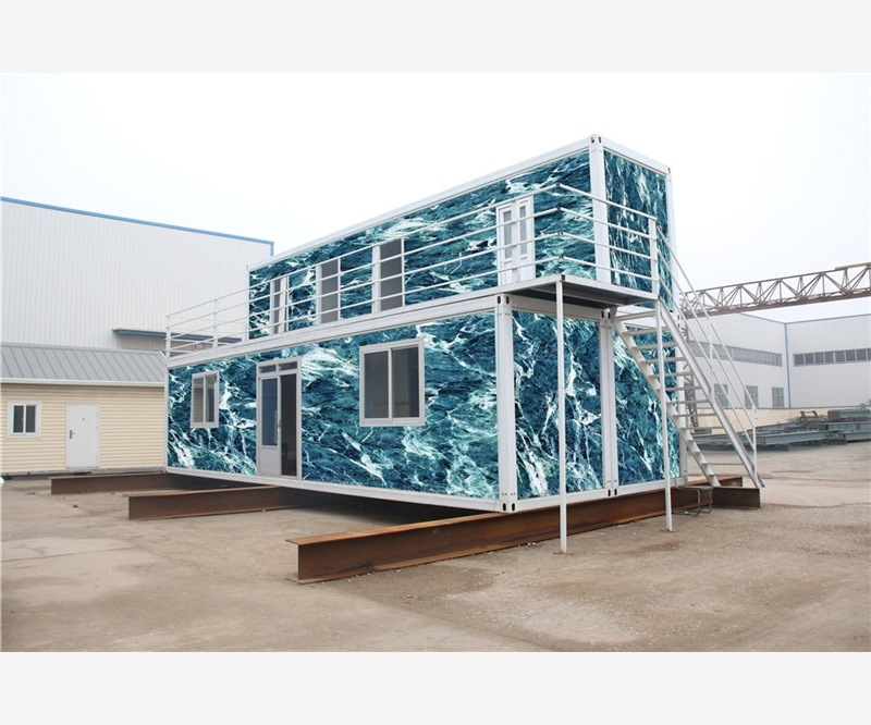 luxury flat prefabricated beach 40 foot containers