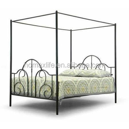 Bedroom furniture metal canopy bed with queen size