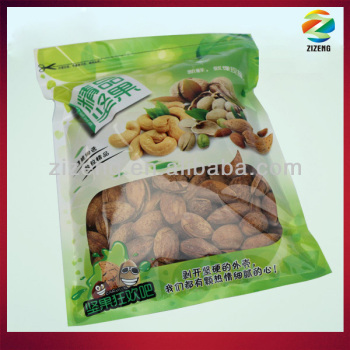 zipper plastic bag air barrier bags for dry almond