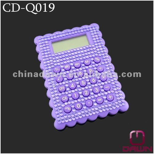 Bling Bling Gift Mini Calculator with Purple Diamonds CD-Q019