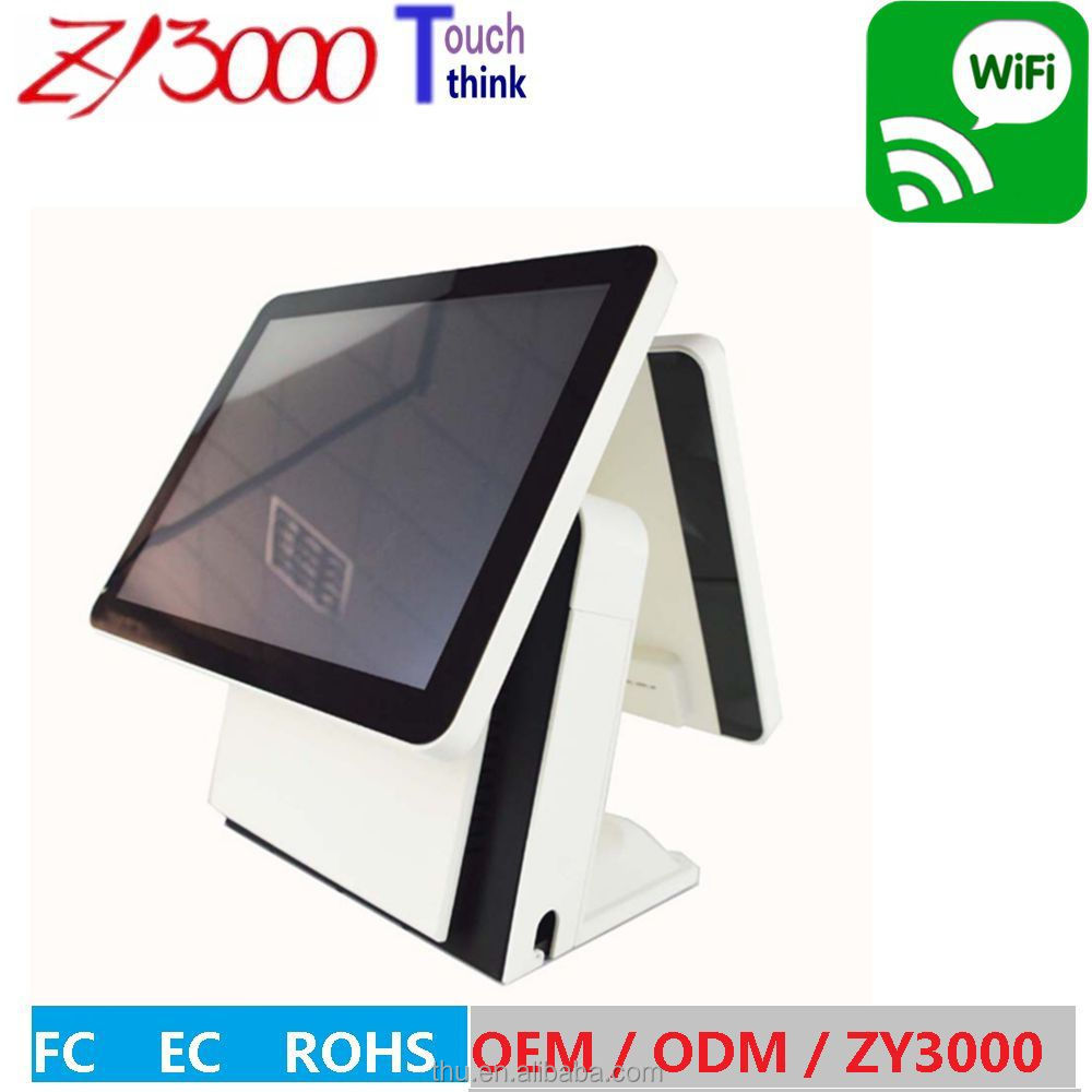 cheap pos terminal with nfc reader / pos system/ epos / pos system dual screen