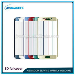 3d luxe tempered-glass screen protector ,H0T086 for s6 edge screen protector with design , tempered glass s6 edge buy now