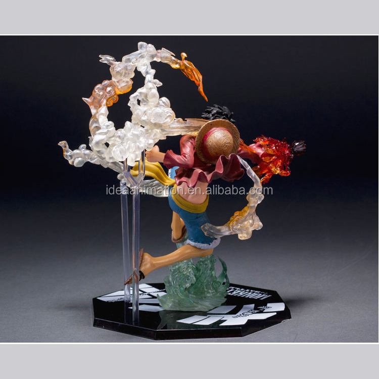 oem 3d high details quality figurine clear resin one piece figure for collectible