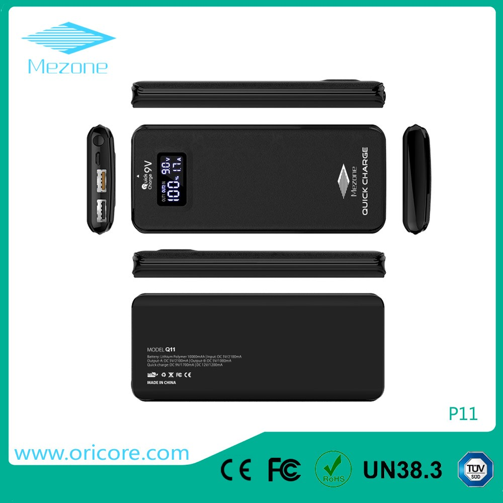 Universal Power Bank 10000mAh, Quick Charge 3.0 Power Bank 2.4A Output Phone Changer