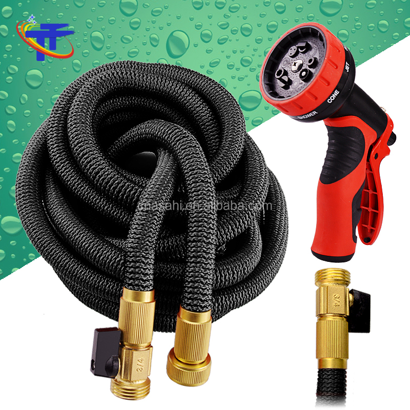 Newest 75 Foot Expandable Garden Hose Strongest Expanding Hose With Triple  Layer Latex Core 48 Ply Fabric 8 9Pattern Spray Nozzl