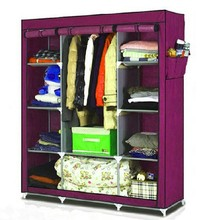 Colorful metal clothing wardrobe / closet cupboard / folding portable wardrobe