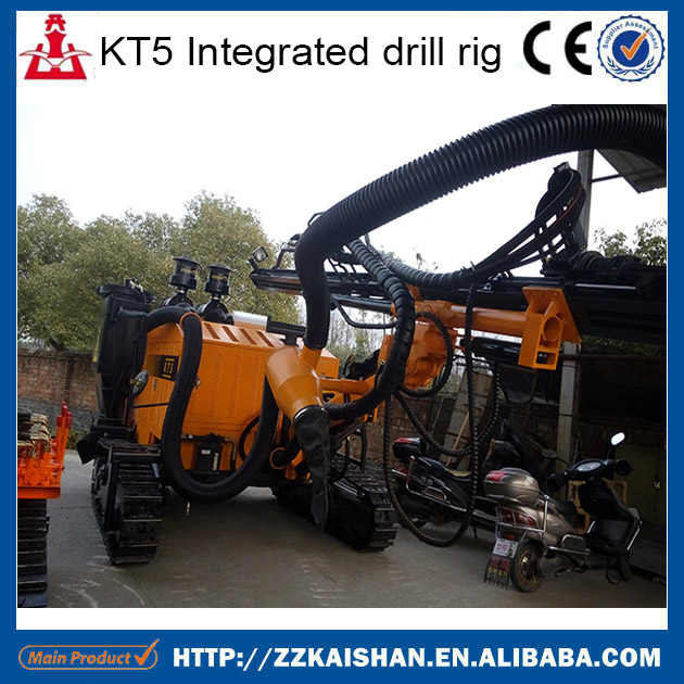 All hydraulic mineral exploration compact structure KT5 borehole core drilling rig for sale