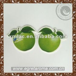 Car Interior decoration green apple car air freshener for car