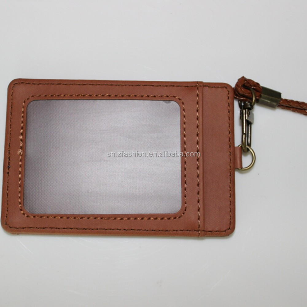 China supplier custom pu leather id card holder