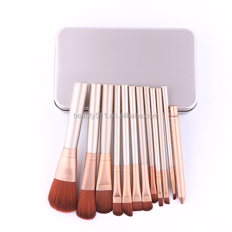 The golden tin makeup brush 12 NK3 beauty makeup brush set