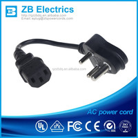 IEC c13 power cord type india power supply cord/south africa sabs power cords