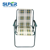 Outdoor furniture foldable camp beach chair with stainless steel