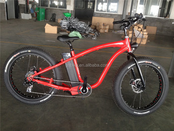 26inch electric fat tire cruiser bicycle fat tyre E bike lithium battery 500w