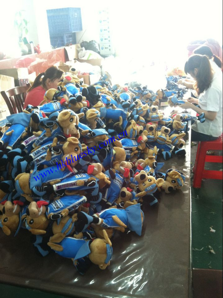 Custom kids plush toys dog plush toys for outdoor party use
