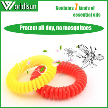Hot Sale EVA Natural Essential Oil Mosquito Repellent Bracelets/eco-friendly Coil anti mosquito wristband
