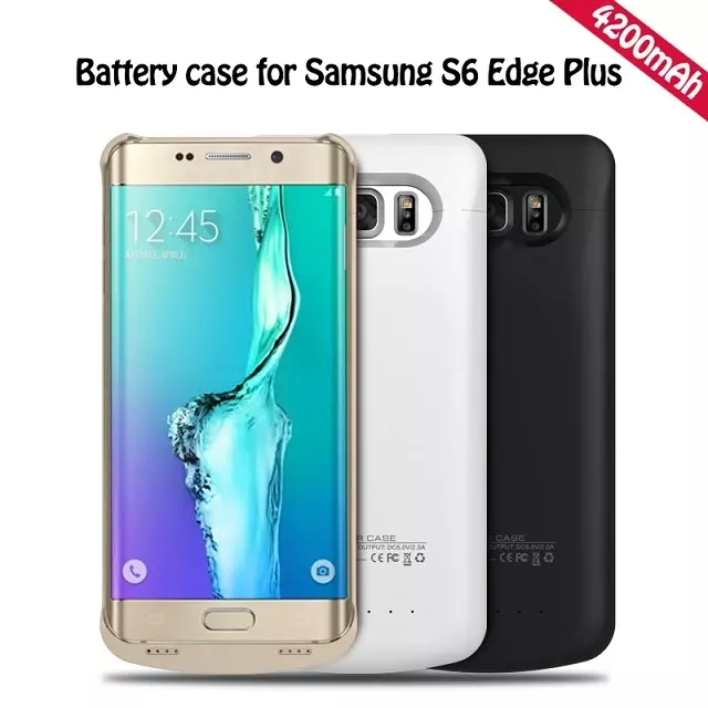 The Most Popular Products Power Bank Case 4200 Mah External Backup Battery Charger Cover Case For Samsung Galaxy S6 Edge Plus