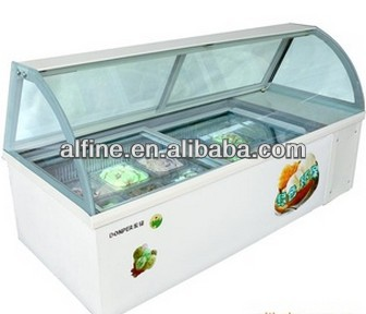 countertop ice cream display freezer