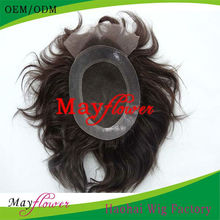 China Wholesale Natural human hair swiss lace toupees for black men