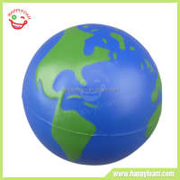 PU Foam Promotional Customized Earth Stress Balls Wholesale