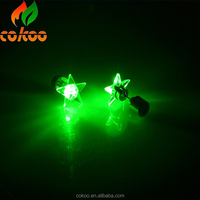 China Wholesale Colorful Led Flashing Earrings Glowing Ear Ring Party Gifts Light Up Earrings Star shape