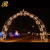 Outdoor lighted LED arch Christmas decorations