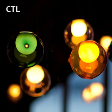 Modern Colorful Cluster Ball Chandeliers Indoor Lighting Lamps Hanging Hand Blown Glass Pendant Light