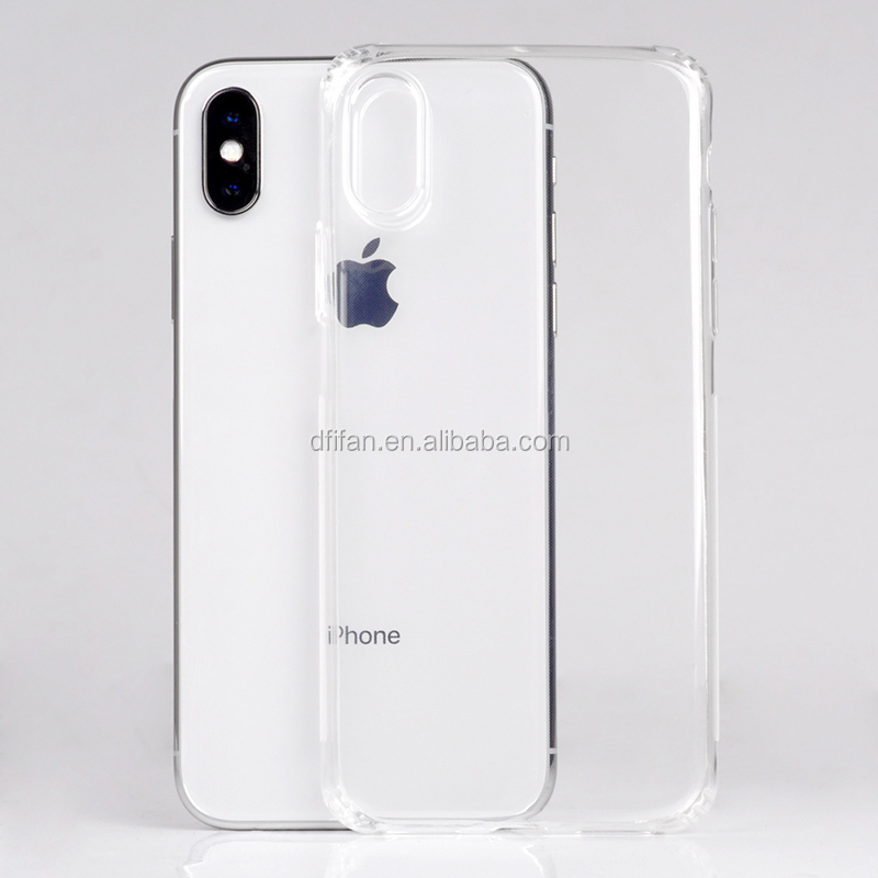 DFIFAN Reinforced Corners Protective Mobile Cases for <strong>iphone</strong> X , Slip-proof Clear Smooth Case for <strong>iphone</strong> X case new arrivals