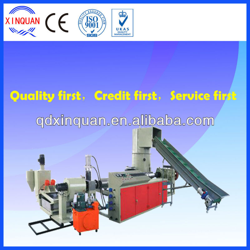 PP PE film recycling and pelletizing machine