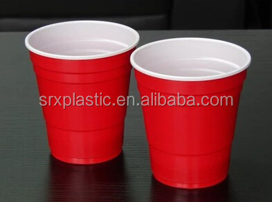 Reusable hot sale 10oz Red solo plastic Cup/285ml Plastic red solo cup 9oz for party/OEM red Party Beer Drinking plastic cup
