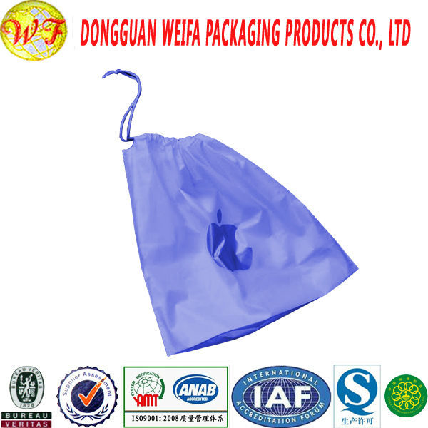 Wholesale Alibaba cheapest top quality custom Small Gift plastic drawstring bag