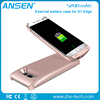 2016 ultra thin colorful power bank charging case for samsung galaxy s7edge portable wireless charging case battery phone cover