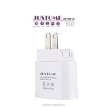 Factory competitive price Mobile phone accessories Dual USB Travel Wall Charger Foldable Plug for iPhone iPad, Samsung Galaxy