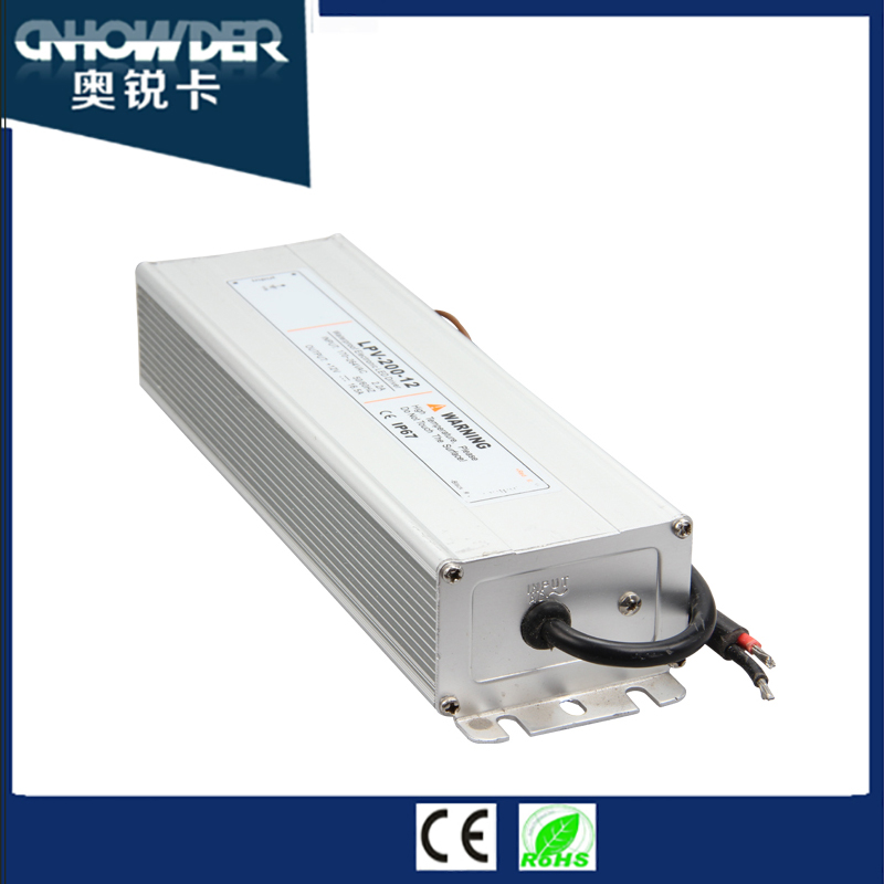 Waterproof transformer outdoor IP67 led driver 200w 36 volt power supply,12 24 36 48 volt ac/dc power supply with LED driver